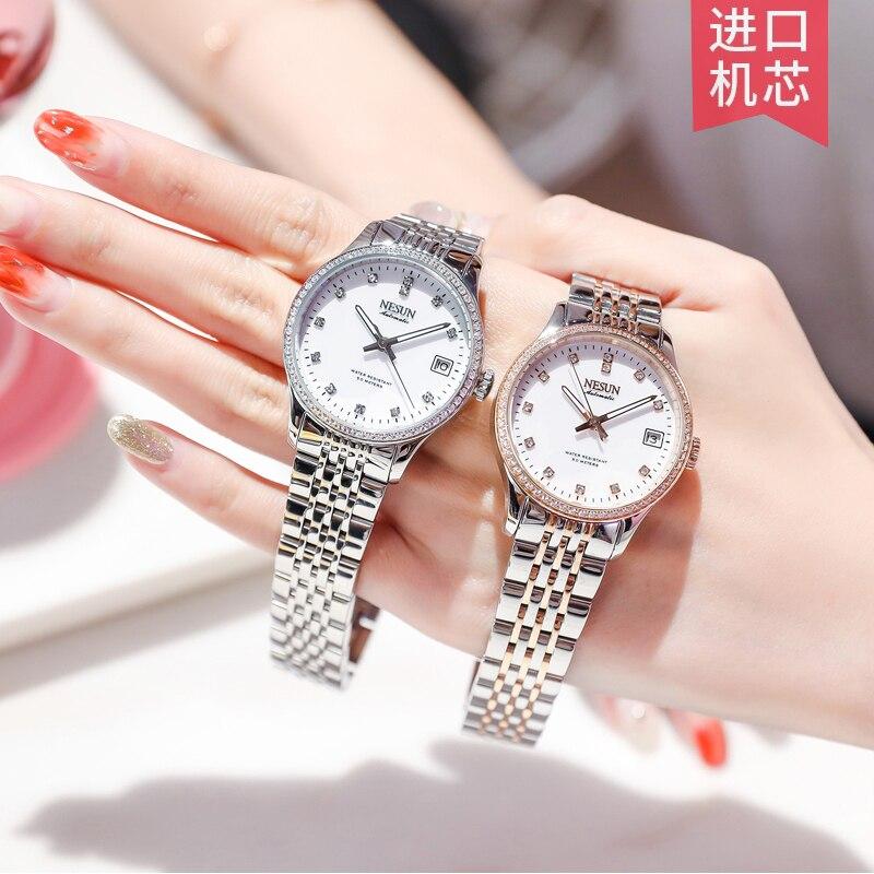 NESUN Switzerland Women Watch Top Luxury Brand Clock Japan MIYOTA Automatic MOVT Wrist Waterproof Diamond Ladies Watch N9202-4 enlarge