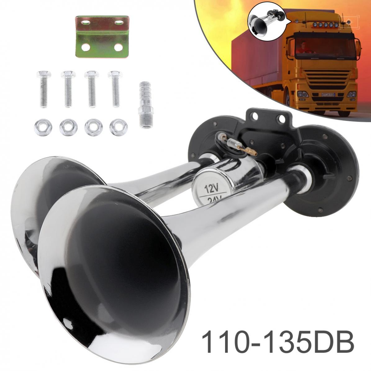 110-135dB Super Loud Heavy Duty Plastic Car Trumpet Auto Train Air Horn for Boat Train Car Vehicle