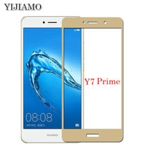 2Pcs Cover 3D Explosion-proof Tempered Glass For Huawei Y7 Prime Full Screen Screen Protector 9H Pro