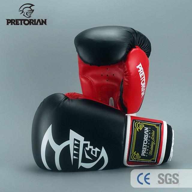Pretorian marca 10oz 12oz 14oz 16oz muay thai boxe luvas de perfuração tkd mma masculino luta luvas de boxe pu pontapé luvas