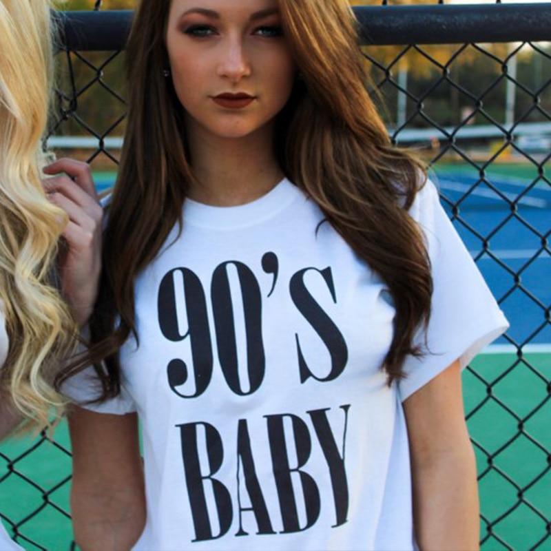 90s letras para bebé Mujer ropa de moda de verano 90s Rap Shirt Rap Lyric camiseta Rap música gráfico camiseta Tumblr Tops Casual