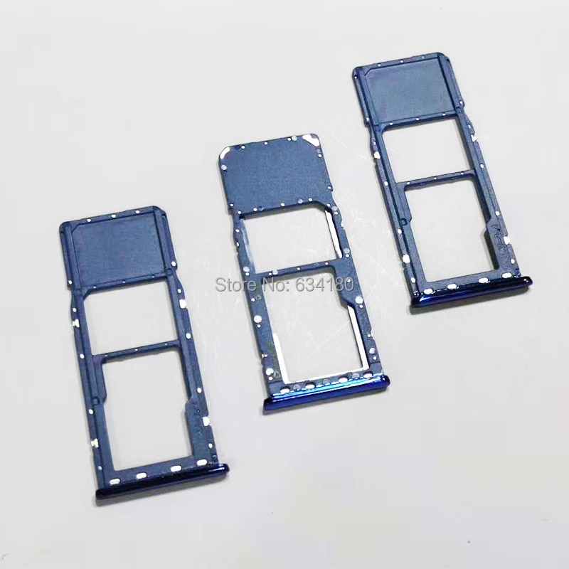 10pcs/lot SIM Micro SD Card Tray Slot For Samsung A7 2018 A750 A750F 6.0 Inch Card Reader Holder dower me micro sd card sim card reader holder connector for sony xperia xz2 xz3 h8216 h8266 h8276 h8296 h9493