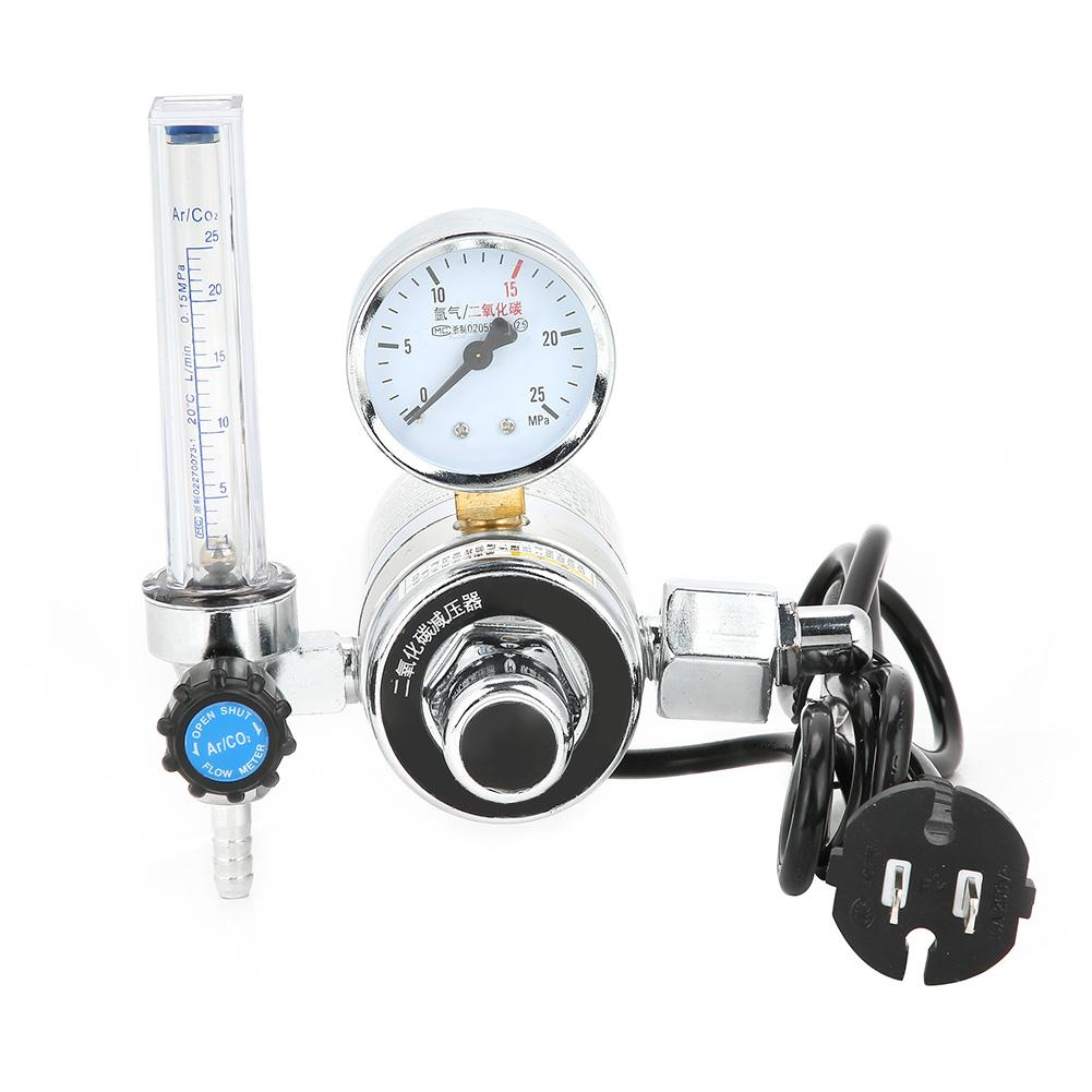 Regulador do co2 do redutor de pressão do dióxido de carbono dos reguladores calibre para o trabalho de soldadura 36 v/220 v para o calibre dobro da cerveja w21.8 da bebida.