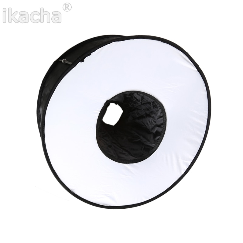 45 cm anillo Softbox Speedlight estilo redondo Flash luz Shoot caja suave plegable Flash luz difusor