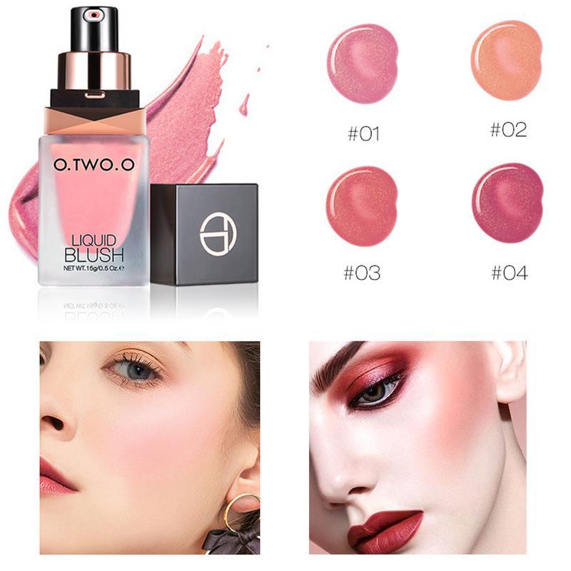 Colorete líquido, colorete, 4 colores, brillo Natural, colorete, resistente al agua, duradero, ligero y hermoso, productos de belleza, maquillaje