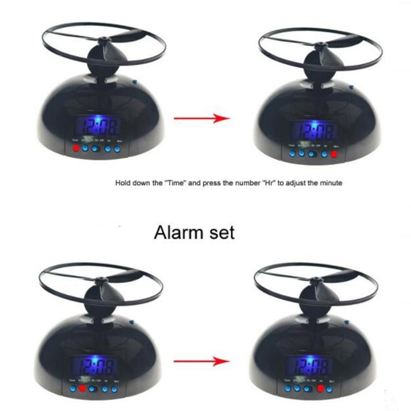 Divertido y alocado reloj despertador helicóptero volador, decoración para el hogar