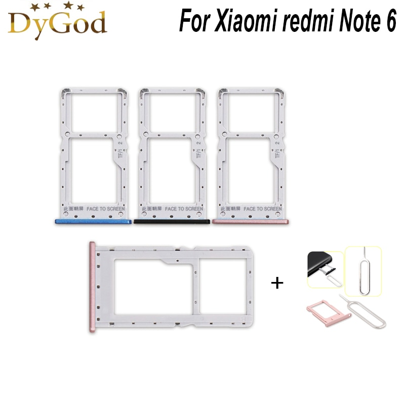 For Xiaomi redmi Note 6 pro SIM Card Tray Slot Holder Adapter Repair Accessories With Sim Card Eject