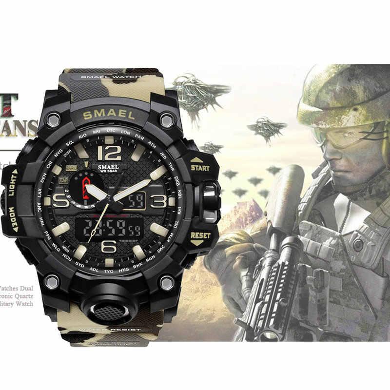 Smael Brand Men Smart Watches Dual Display Analog Digital Led Electronic Quartz Wristwatches Waterproof Swimming Military Watch Smart Watches Aliexpress