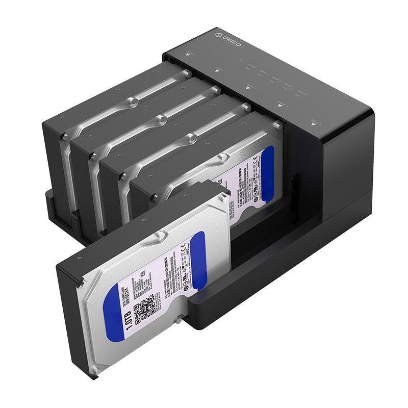 Orico 6558Us3-C 5 Bay supervelocidad Usb 3,0 HDD herramienta de estación de acoplamiento Usb libre 3,0 a SATA carcasa de disco duro adaptador de caja