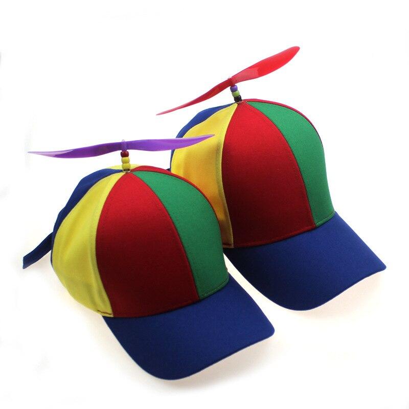 Creativo Verano Divertido gorra Snapback para los hombres para los padres niño Multicolor hélice béisbol sombrero de las mujeres al aire libre sombrero desmontable