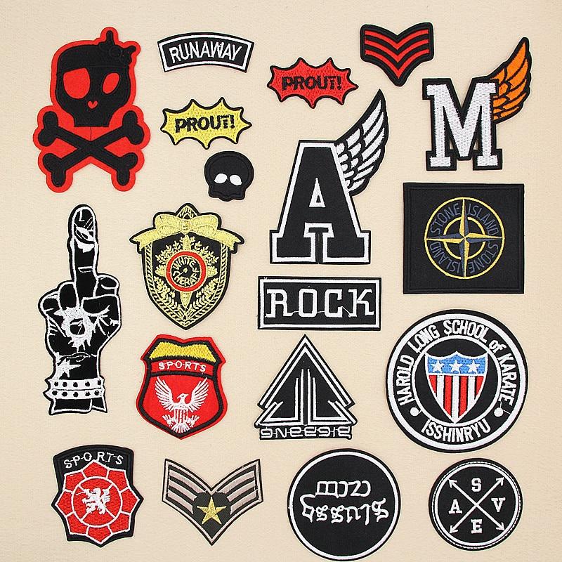 Патчи для глажки одежды PGY в стиле панк, черные военные патчи для глажки одежды, Байкерский значок, армейские наклейки для глажки одежды