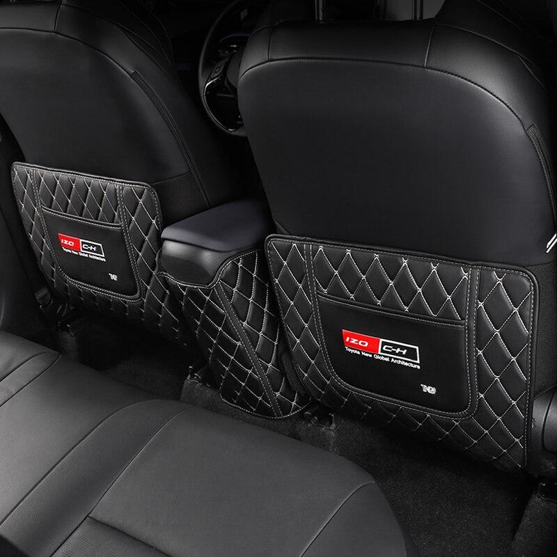 Mi buen asiento de coche anti-kick pad parte trasera almohadilla de protección anti-sucio de estilo de coche para Toyota C-HR 2016-2018 accesorios de coche