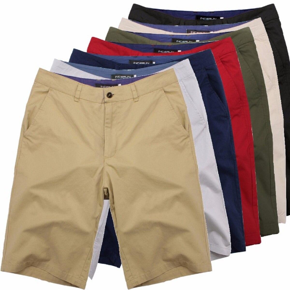 Hohe Qualität Sommer Smart Casual Shorts Männer Baumwolle Streetwear Fashion Plain Business Formale chinos Shorts Plus Größe 44 Mode