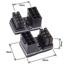 ATX 8pin mężczyzna 180 stopni kątowy do 8 Pin siła żeńska Adapter dla komputerów stacjonarnych karta graficzna ATX adapter ATX 8 Pin Converter