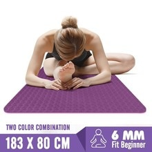 1830*80*6mm Big Size TPE Yoga Dance Mats Professional Non-slip Pilates Tapete For Beginner Fitness Exercise Pad Gym Training Mat