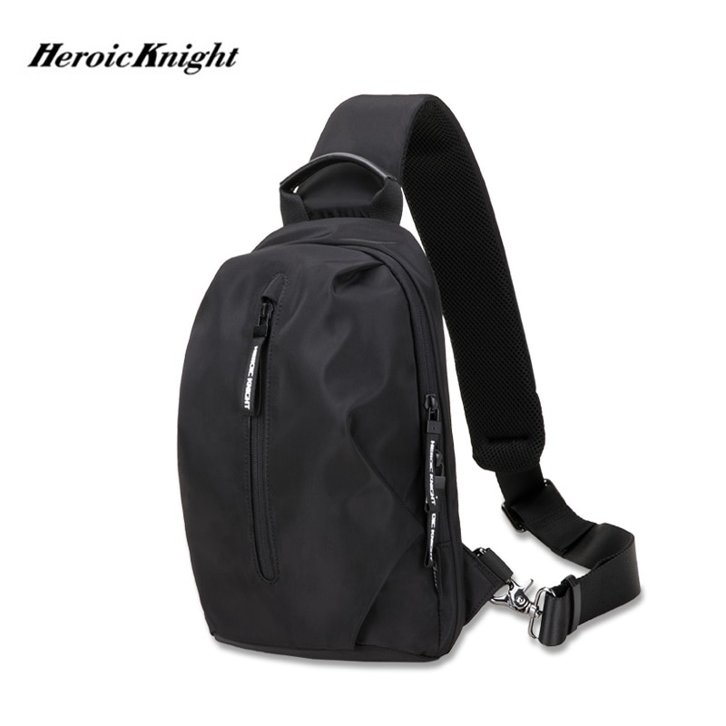 Heroic Knight Multifunction Crossbody Bags Men USB Charging 9.7inchs Pad Chest Pack Short Trip Messengers Chest Bag Shoulder Bag