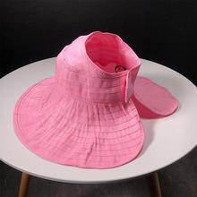 Chapeau de soleil pliant dété Parent-enfant   Chapeau femme mode sauvage, chapeaux de soleil pliants, hauts chapeaux vides, visière à large bord, chapeau de plage pour filles