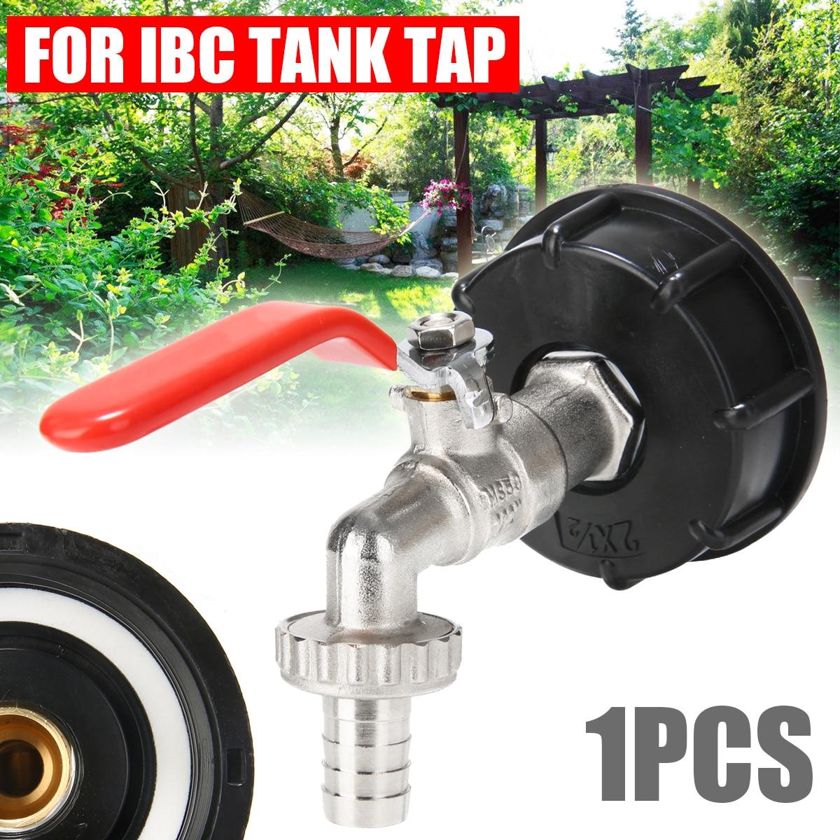 """Mayitr IBC adaptador de tanque S60X6 a grifo de jardín de latón 1/2 """"Conector de clavija de repuesto de combustible de aceite"""