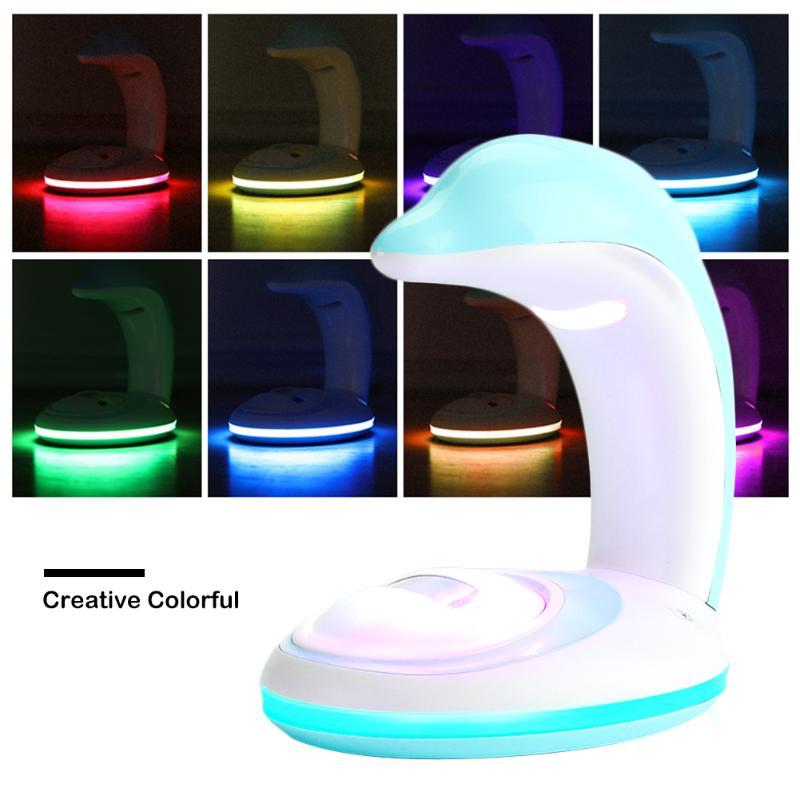 Creative Colorful Rainbow Toilet Light USB Charging Projector Lamp Night Lights Projector Bathroom Night Lamp