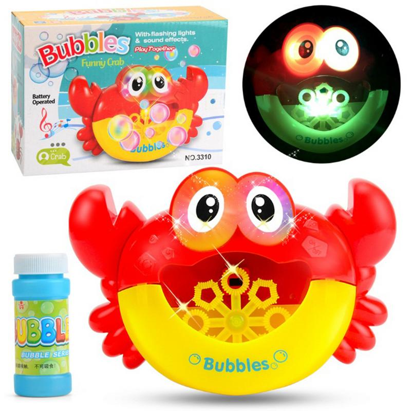 Juguetes de baño de burbujas de cangrejo juguetes de baño de bebé para nadar juguetes de baño de burbujas divertido baño de burbujas fabricante