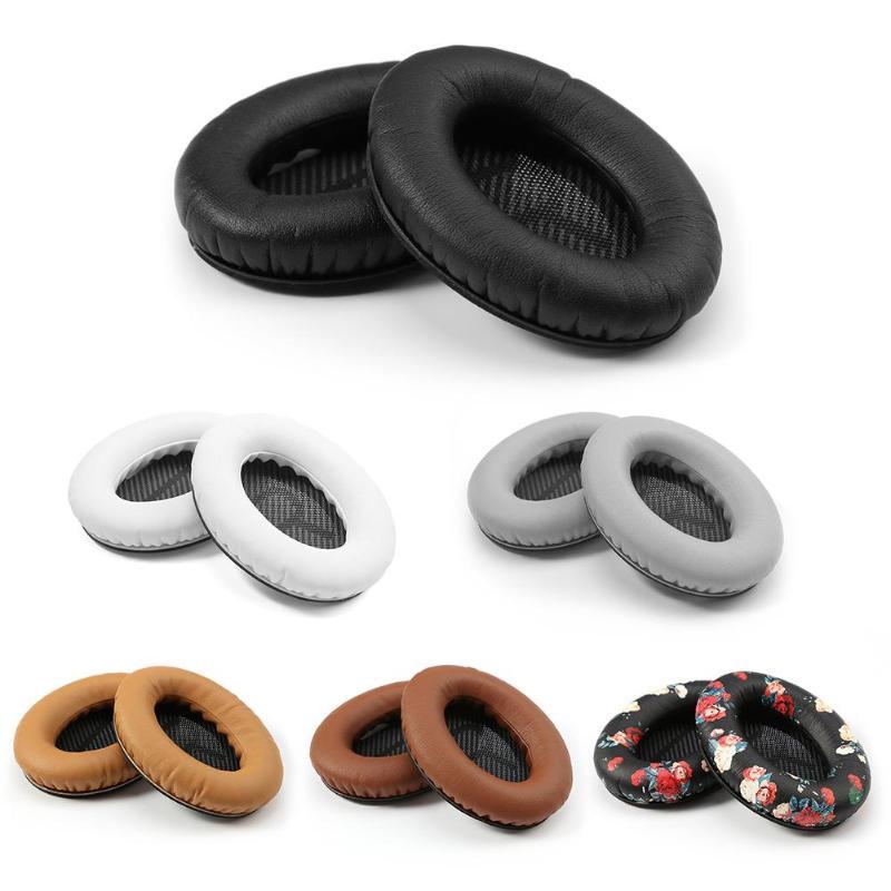 1 par de almohadillas de repuesto de cuero L/R, almohadillas para los oídos, almohadillas para Bose Quietcomfort 2 QC2 QC15 QC25 AE2, auriculares