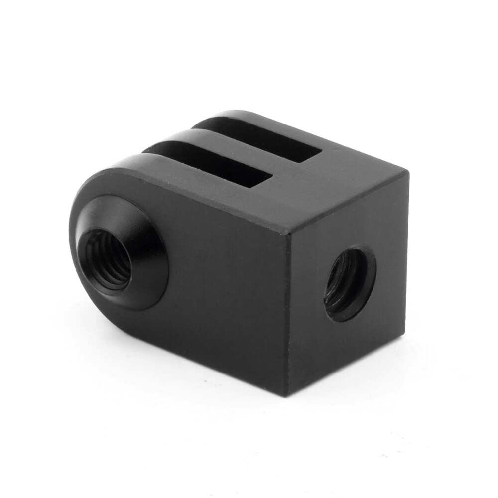 Aleación de aluminio Cnc Mini trípode montaje al aire libre deportes Cámara Base adaptador para todos los accesorios de tornillo monopié de 1/4 pulgadas