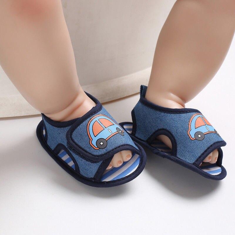 Bebê recém-nascido Da Menina do Menino Sapatos Da Criança Infantil Impressão Carro Berço Calçados Da Lona Sapatos de Sola Macia Criança Prewalke Unisex Sandálias Tamancos