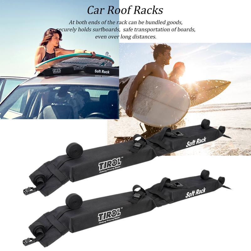 Estante Universal para techo de automóvil, para techo, equipaje de carga, para azotea, para exterior, fácil ajuste, bastidores de techo extraíbles 600D para tabla de surf de Kayak