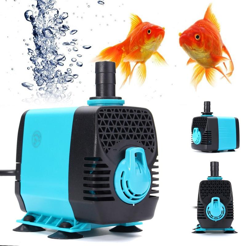 Filtro de bomba de agua sumergible Ultra silencioso 10/15/25/40/600-3000L 55W/H, filtro para fuente de estanque de peces, depósito de gran elevación con enchufe europeo de 220V