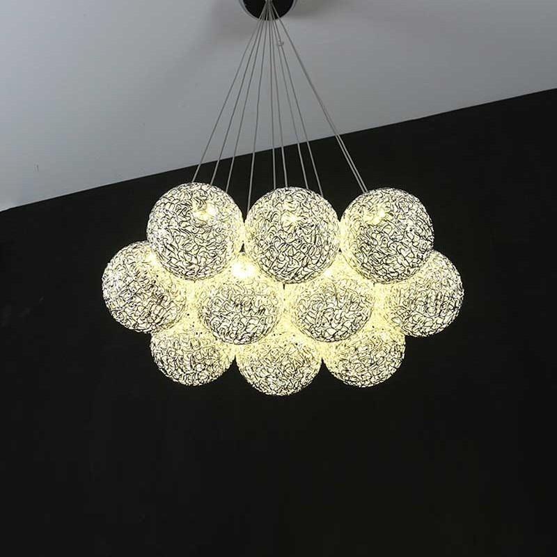 Lámpara colgante de bola moderna para comedor, 10 cabezales con fuente LED, decoración de cocina, diseño de restaurante, luminaria, lámpara para colgar