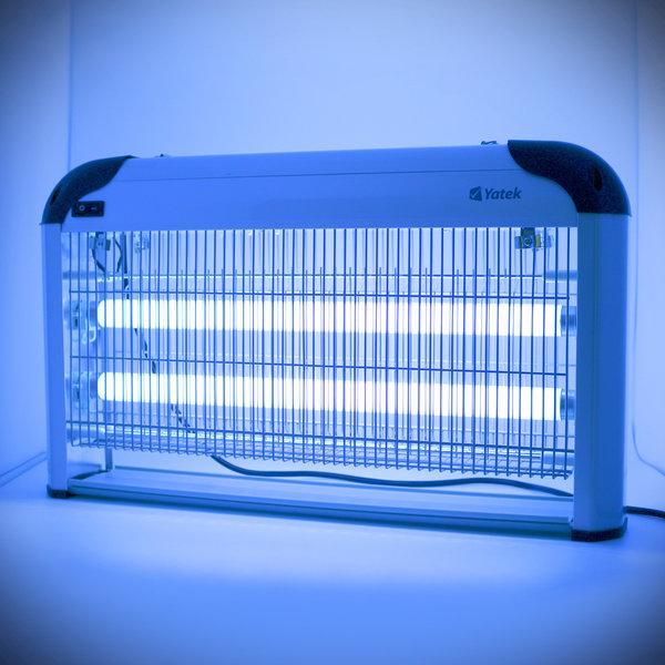 OUTLET Lámpara matamoscas eléctrico Yatek con 30w (2x15w) y 150m2 de acción, por fín podrá librarse de los insectos voladores
