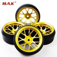 4 Pcs/Set Car Parts Accessory Offset RC Drift Tires Wheel Rims DHG+PP0370 For HPI HSP 1:10 Drift Car Racing Car 6mm 12mm Hex