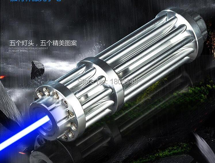 ¡Caliente! Punteros láser azules de alta potencia de 5000w y 5000000 m, linterna Lazer de 450nm para quemar puros/velas/caza negra