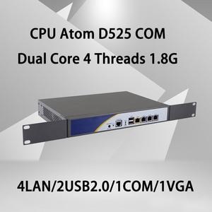 Брандмауэр Mikrotik Pfsense VPN принадлежности для сетевой безопасности маршрутизатор ПК четырехъядерный процессор Intel Atom D525 [hunsn RS01] (4LAN/2USB2. 0/1COM/1VGA/в...