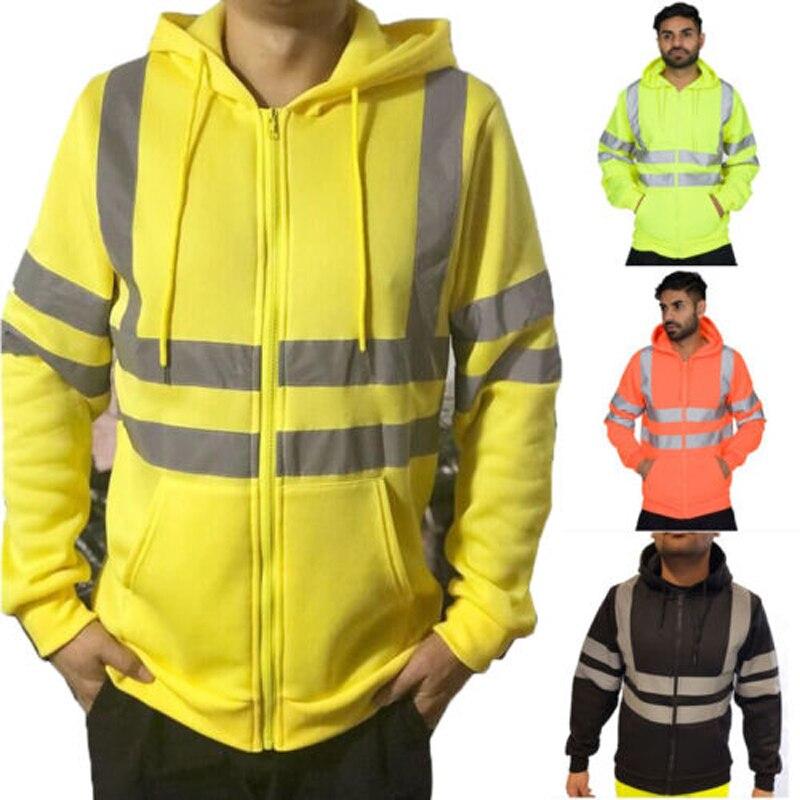 2018 marca camiseta nueva de los hombres con capucha chaqueta con capucha sudadera Casual de manga larga Jersey jersey con cremallera con capucha de lana seguridad FA