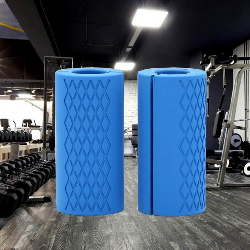 1 par de agarres de mancuerna, mancuerna gruesa, manijas de barra, soporte de levantamiento de pesas, almohadilla protectora antideslizante