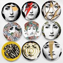 Platos de cerámica artesanales, Plato decorativo para el hogar, platos de pared de porcelana de 8 pulgadas, venta al por mayor