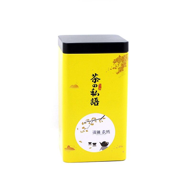 Lata grande de lata de empaquetado Xin Jia Yi, lata vacía de forma cuadrada de té verde, lata de lata personalizada al por mayor, contenedor de lata de 10oz