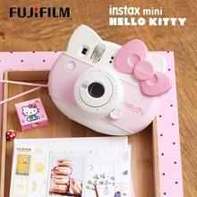 Fujifilm Instax Mini HELLO KITTY appareil Photo instantané Fuji 40 anniversaire Film Photo papier une fois prise avec 10 feuilles