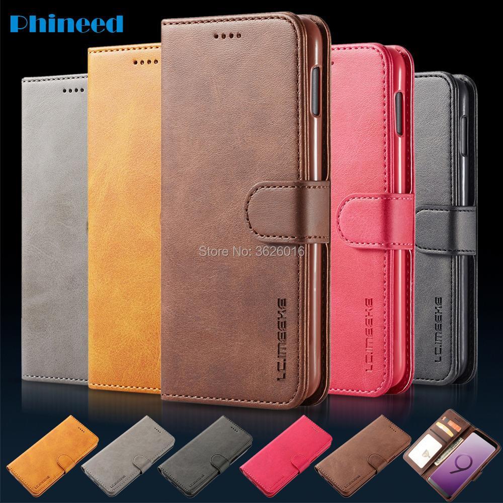 Para Samsung S8/S9/S10 Flip Phone Etui funda coque para Samsung Galaxy S8 S9 S10 Plus S10E S8PLus con cartera de cuero de lujo