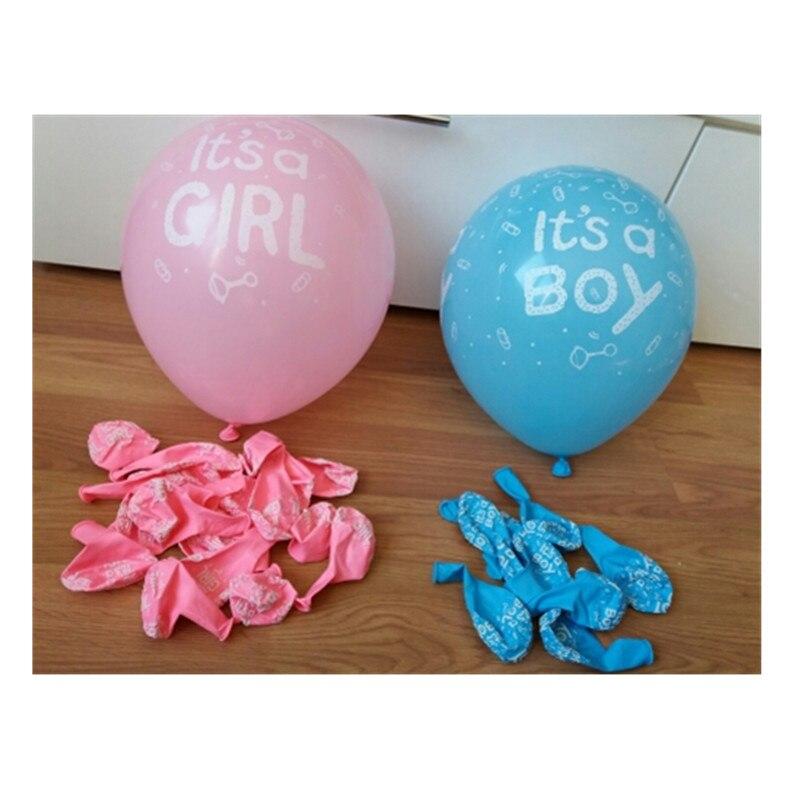 10 Uds. Es un niño y es un bebé niña globos de látex para boda cumpleaños fiesta de bienvenida de bebé decoración de colores rosa azul