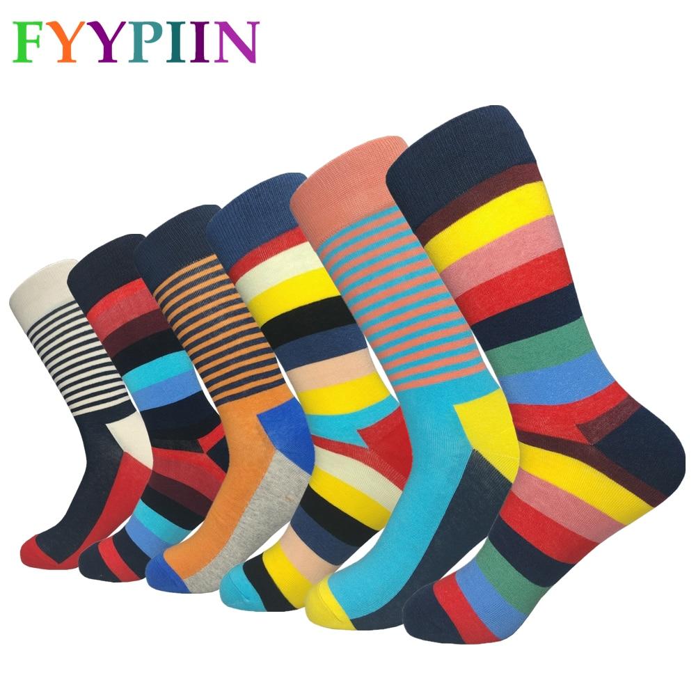 Happy Socks-جوارب رجالية غير رسمية ، إصدار قياسي جديد ، خطوط عصرية ، ملابس ممتعة ، قطن ، 2019