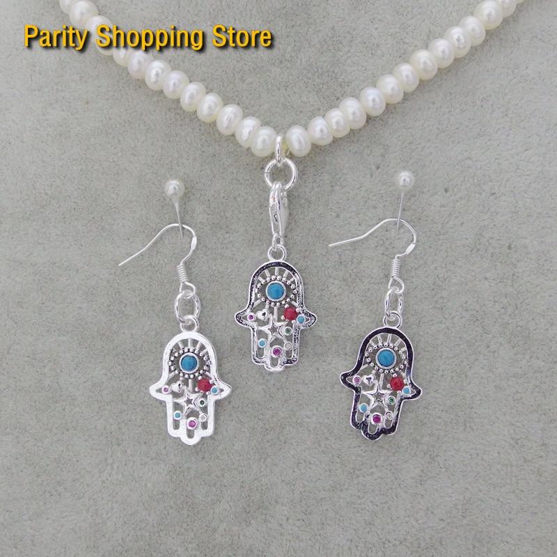 Thomaspt3222 mão colorida 2019 ts925 encantos prata moda jóias colar pingente anexar para pulseira & eardrop presente