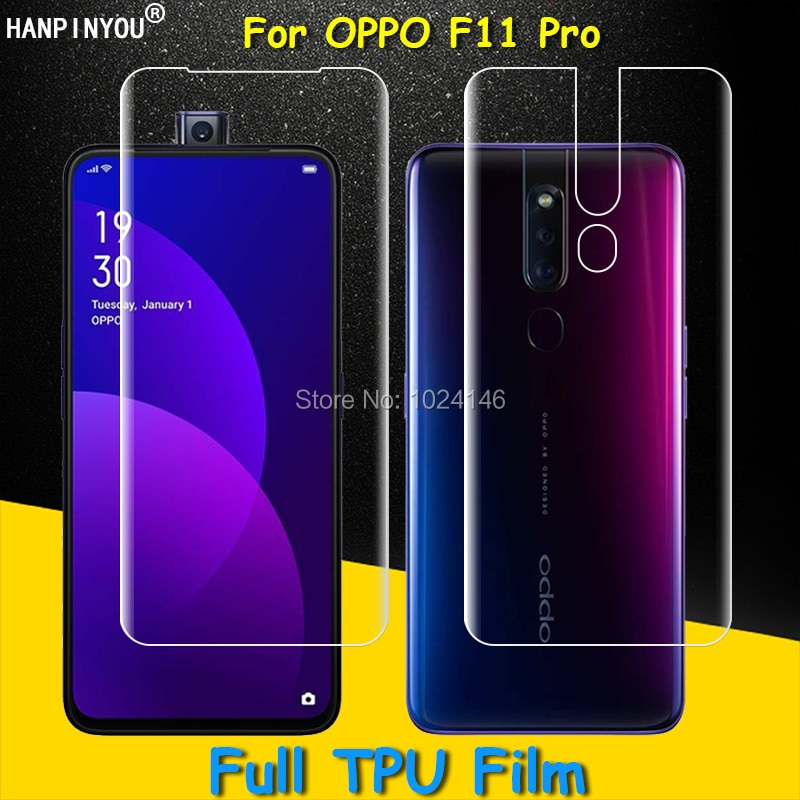 Front / Back Full Coverage Clear Soft TPU Film Screen Protector For OPPO F11 Pro 6.5