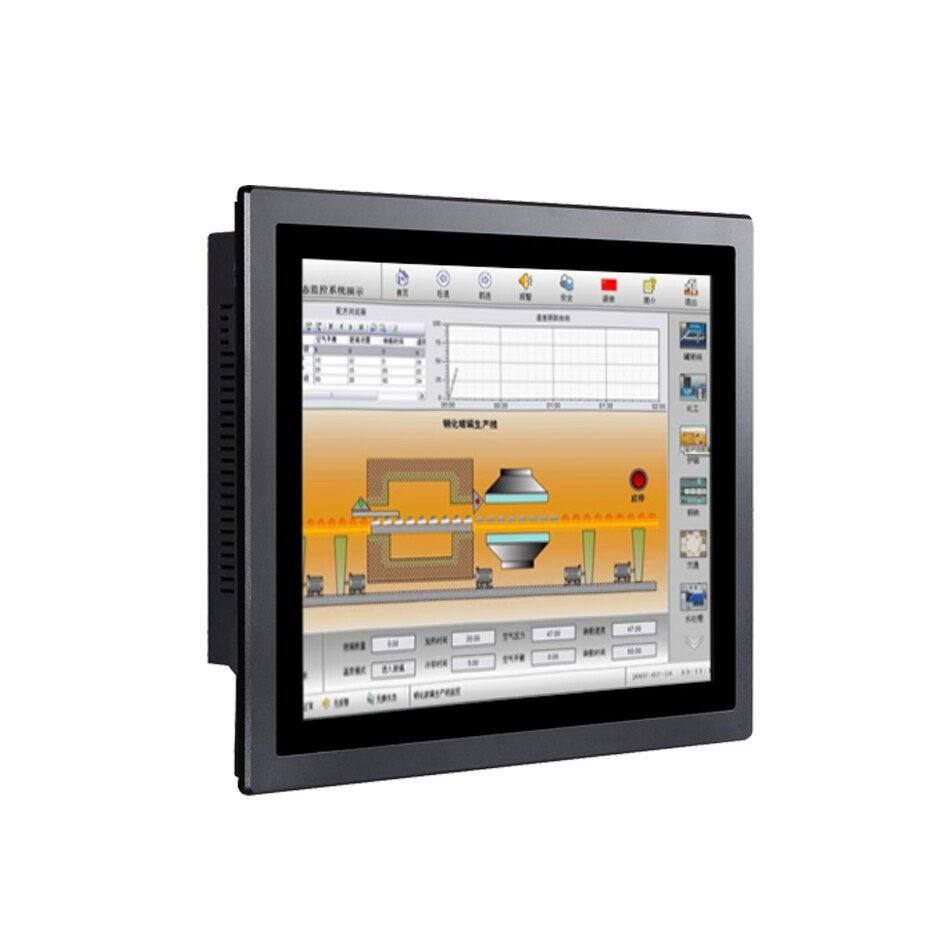Tableta PC Industrial LED sin ventilador de 15 pulgadas, pantalla táctil capacitiva, Intel Core I5, Win10 o Linux, panel táctil PC [DA15W]
