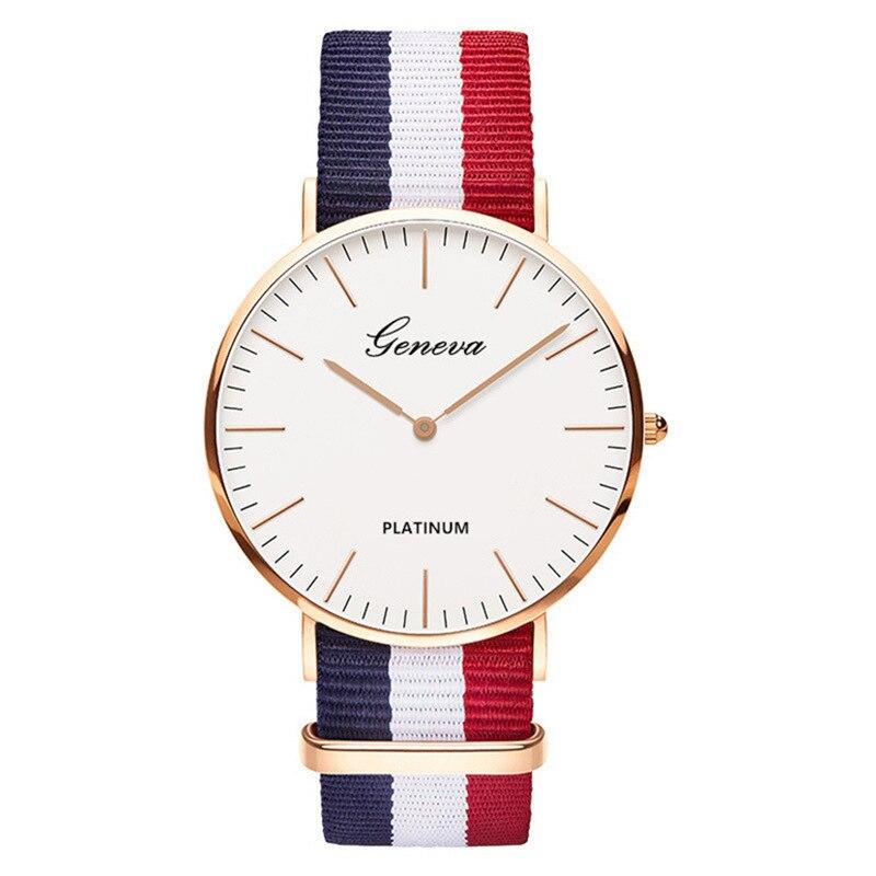 Hot Sale Nylon Strap Stylish Quartz Women Watch Top Brand Simple Fashion Casual Neutral Wrist Watches Relogio Feminino