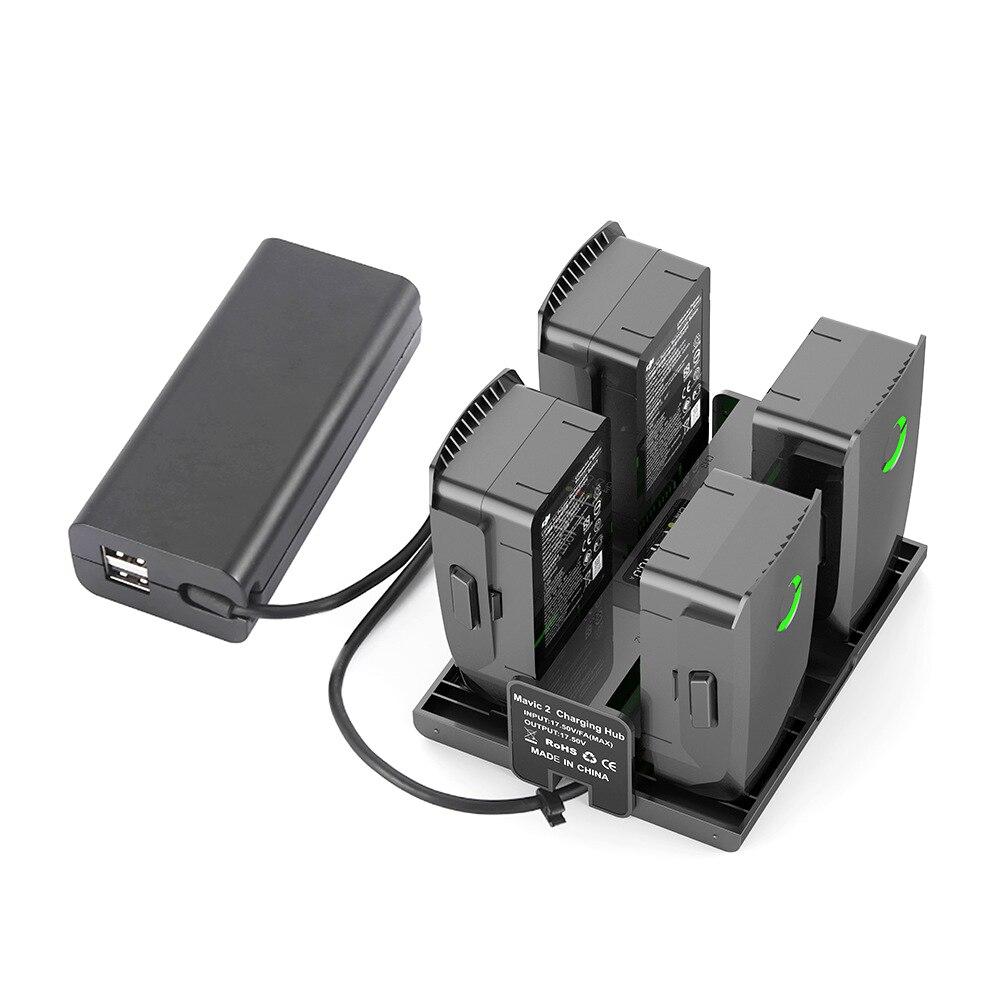4 в 1 складной зарядный концентратор для аккумуляторов DJI Mavic 2 Pro /Zoom зарядное