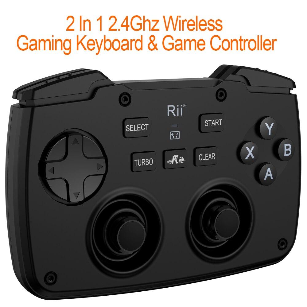 لوحة مفاتيح ألعاب لاسلكية صغيرة 2.4 جيجاهرتز ، مع لوحة لمس ، وحدة تحكم ، زر ABXY ، L1 ، R1 ، L2 ، R2 ، توربو ، لـ TV Box ، الكمبيوتر الشخصي ، PS3