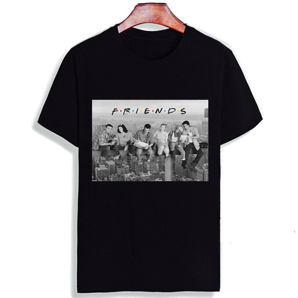 Новинка 100% хлопковая Футболка с принтом для ТВ-шоу друзей топ с коротким рукавом и футболка модная повседневная футболка унисекс Одежда для пары
