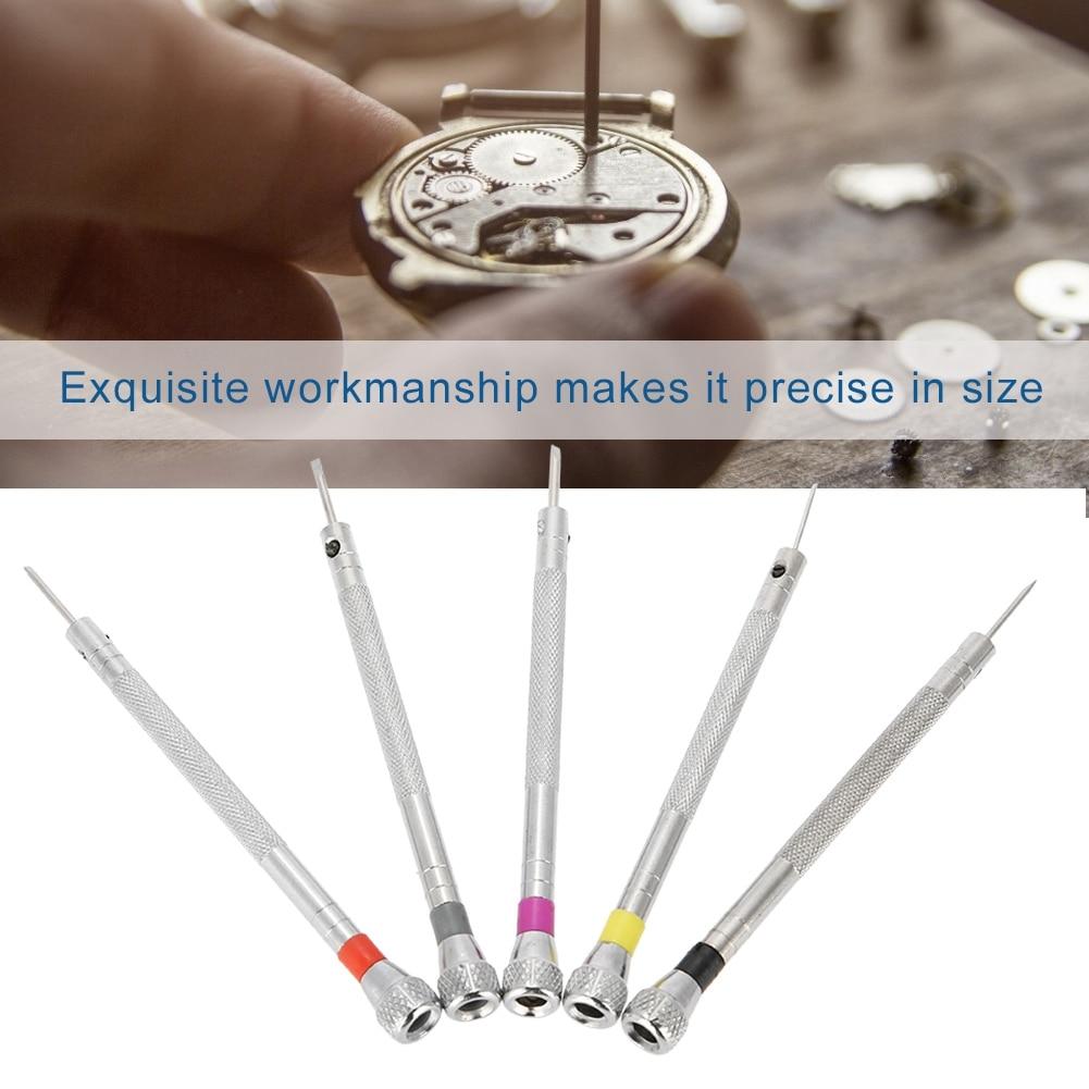 5 Pcs Relógios Jóias Óculos de Fenda Chaves de Fenda Kit Ferramenta de Reparo de Precisão